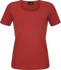 shirt dress in terracotta