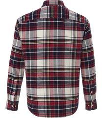 overhemd van 100% katoen met ruitmotief van pierre cardin rood