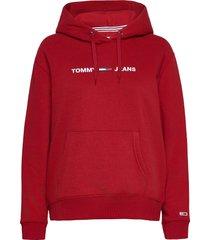 tjw linear logo hoodie hoodie trui rood tommy jeans