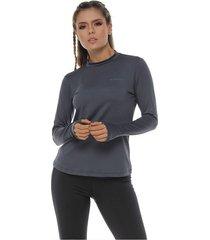 camiseta protección uv, color gris oscuro para mujer