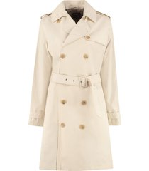 a.p.c. joséphine double-breasted trench coat