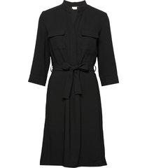 dress woven fabric jurk knielengte zwart gerry weber