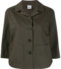 aspesi 3/4 sleeves buttoned jacket - green