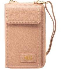 billetera portacelular con correa rosado teens