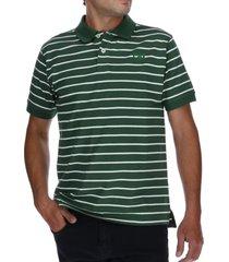 polera polo classic logo verde cat