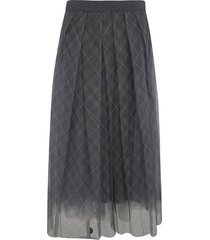 fabiana filippi laced check skirt
