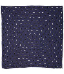 women's kenzo multi eyes square modal & silk scarf