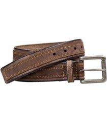 johnston & murphy distressed overlay belt
