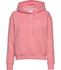 ck embroidery hoodie hoodie trui roze calvin klein jeans