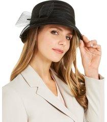 josette sheer stripe braid dressy hat
