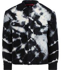 black & white tie-dye jacket