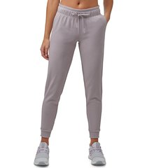 marc new york performance women's off duty french terry joggers - violet - size l