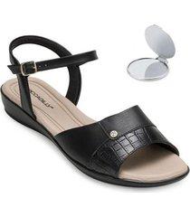 sandália comfort piccadilly e espelho pd20-5002 feminina - feminino