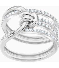 anello largo lifelong, bianco, placcatura rodio
