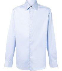 giorgio armani cutaway collar shirt - blue