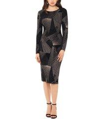 betsy & adam geometric-pattern dress