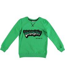 name it zachte groene jongens stretch sweater organisch katoen