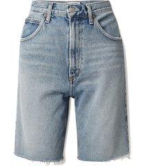 net sustain pinch distressed organic denim shorts