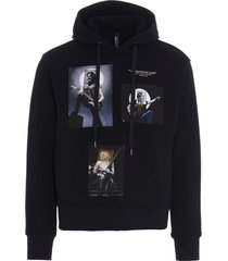 neil barrett rockstar patchwork hoodie