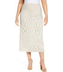 afrm felix print skirt, size x-large in nude placement zebra at nordstrom