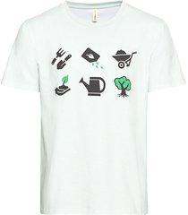 t-shirt van bio-katoen met print, mint l