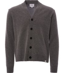norse projects adam lambswool cardigan - light grey melange n45-0395