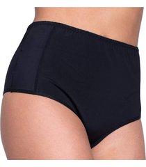 calcinha click chique biquãni cintura alta compressã£o preta - preto - feminino - dafiti
