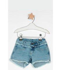 shorts jeans express bebela azul - azul - menina - dafiti