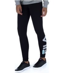 calça legging fila letter - feminina - preto/cinza claro
