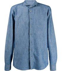 dell'oglio a cutaway collar shirt - blue