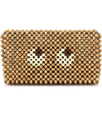 anya hindmarch clutch eyes cedar beads