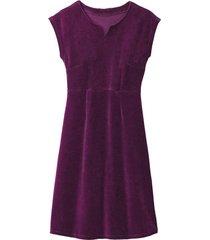velours jurk, purper 34