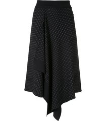 egrey pontilhada knit skirt - black