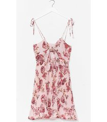 womens shirred it here first floral mini dress - pink