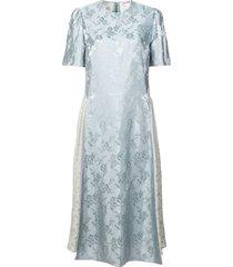 jacquard midi dress