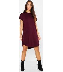 basic curved hem t-shirt dress