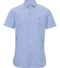 magneton_1-short kortärmad skjorta blå boss