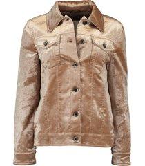 crushed beaver velvet jacket