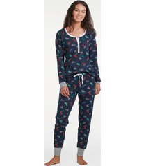 tommy hilfiger women's ermal pajama set cars and trees - xl