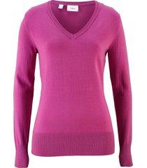 maglione con scollo a v (viola) - bpc bonprix collection