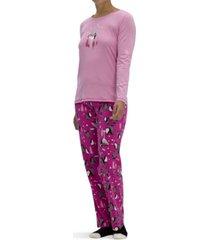 hue women's holiday 3pc pajama gift set