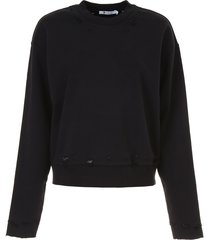 t by alexander wang distressed french terry sweatshirt
