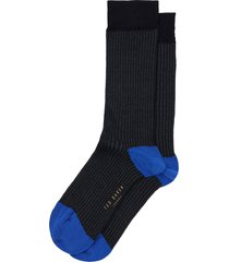 men's ted baker london fine stripe socks, size one size - black