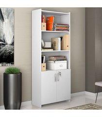 armário para escritório 2 portas 56118 branco new - notavel