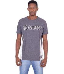 camiseta starter especial recorte lateral cinza - cinza - masculino - dafiti