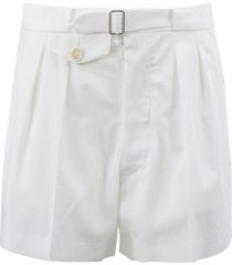 maison margiela white cotton shorts