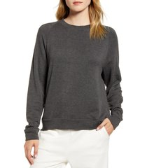 women's lou & grey signaturesoft plush sweatshirt, size xx-small - grey