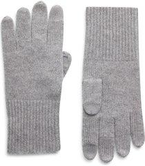 women's halogen cashmere tech gloves, size one size - grey