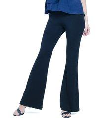 calça 101 resort wear flare pala cintura alta viscoly preta