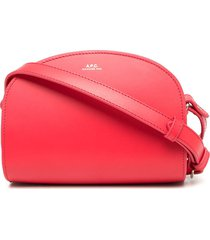 a.p.c. demi half-moon crossbody bag - pink